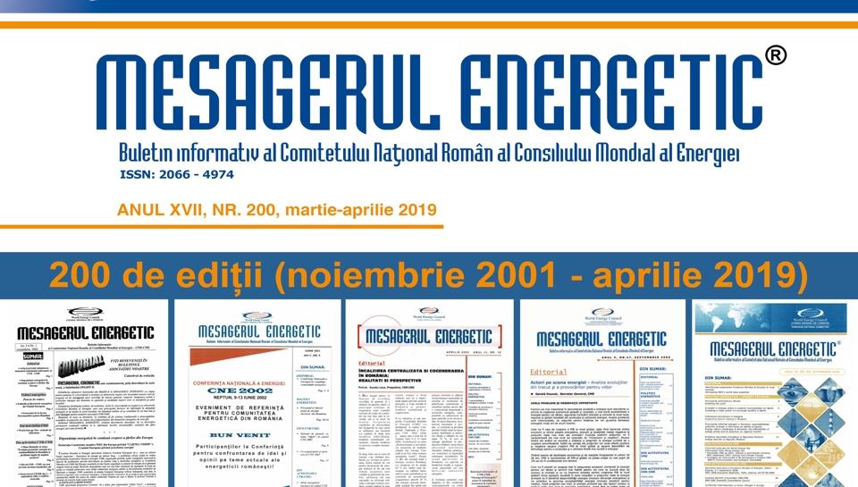 Mesagerul Energetic-200 de ediții (noiembrie 2001-aprilie 2019)