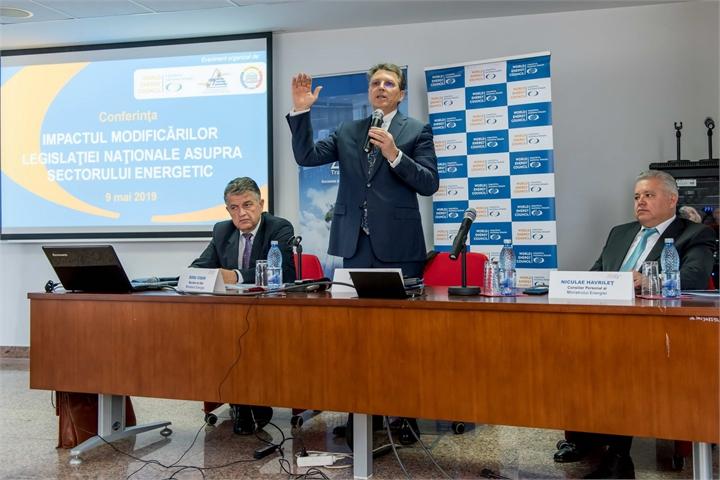 """CONFERINȚA """"IMPACTUL MODIFICĂRILOR LEGISLATIVE NAȚIONALE ASUPRA SECTORULUI ENERGETIC"""""""