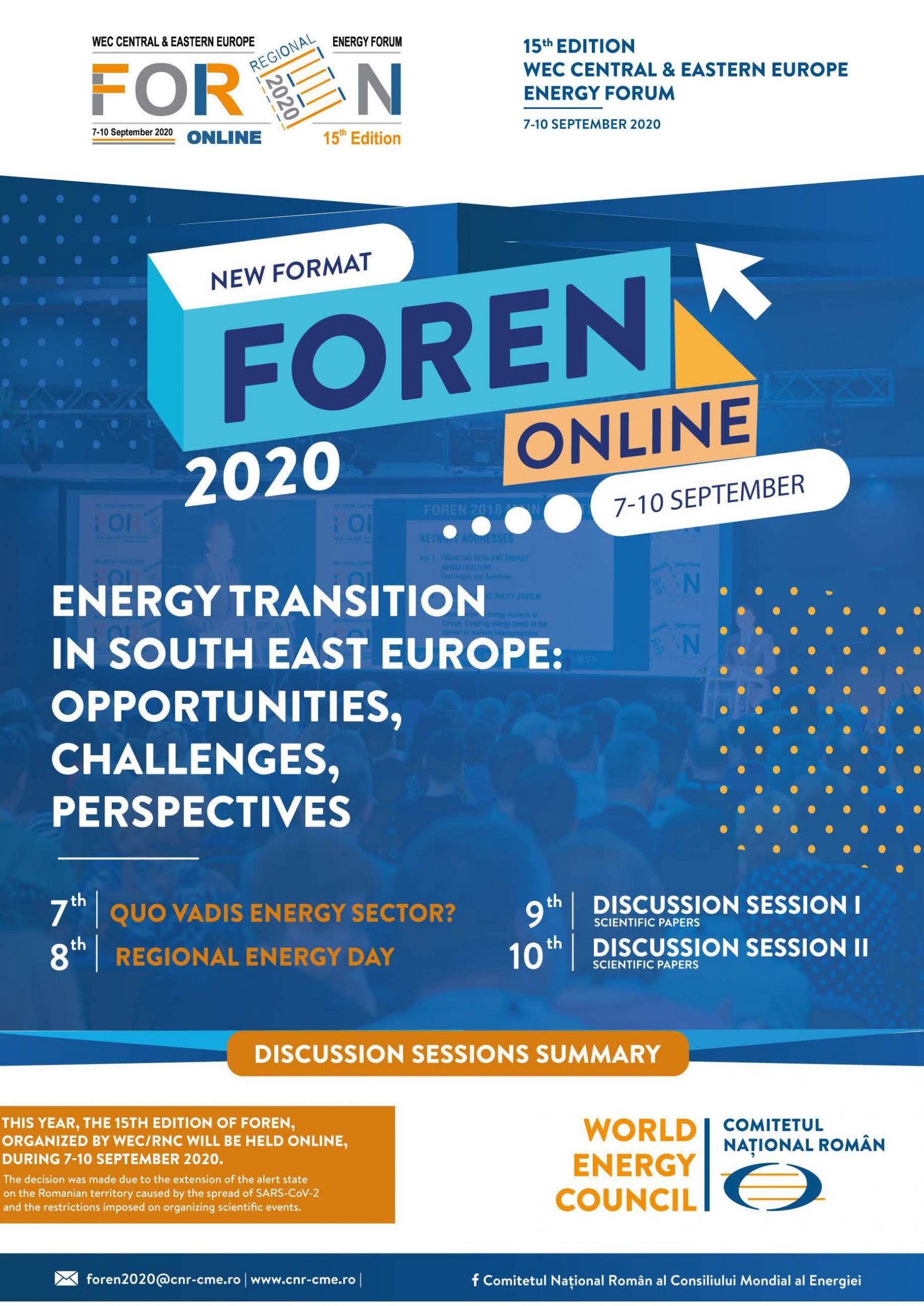 FOREN 2020 – Discussion Sessions Summary
